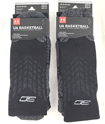 Under Armour UA SPECIAL EDITION Stephen Curry #30 Crew Basketball Socks 2 PAIR Sport BUNDLE