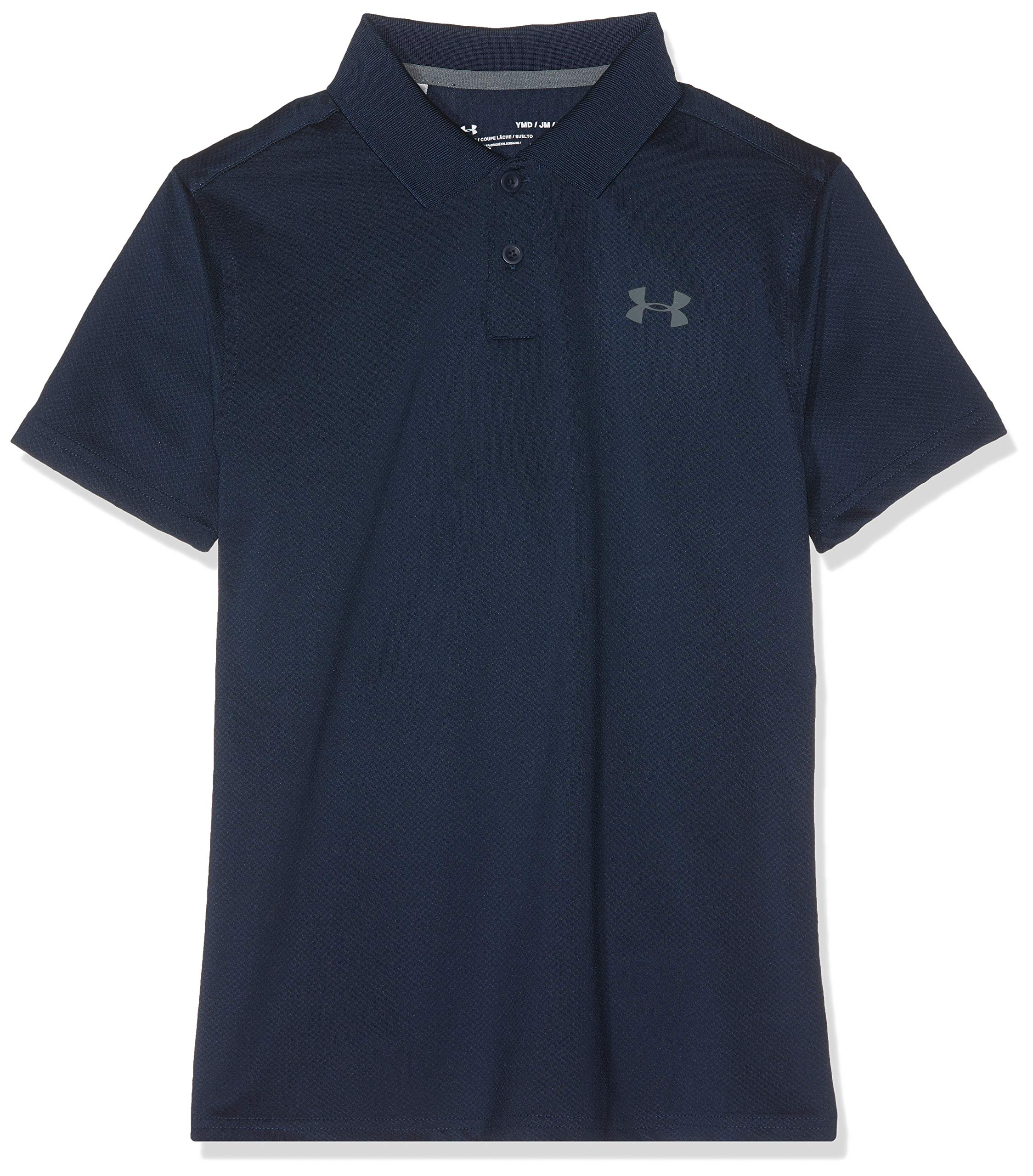 Under Armour Performance Polo 2.0, Academy//Pitch Gray Fade Heather, Youth X-Small
