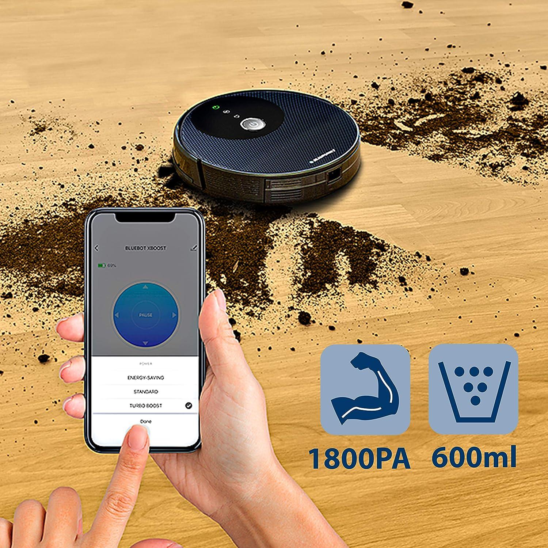 Robot Aspirapolvere Lavapavimenti controllabile mediante Alexa o Google Home Blaupunkt Bluebot XBOOST