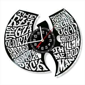 Wu-Tang Clan Vinyl Clock, Wall Clock 12 inch (30 cm), Original Gifts for Fans, The Best Home Decorations, Unique Art Decor, Original Idea for Home Decor