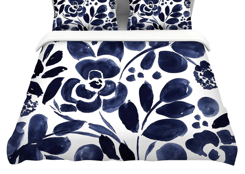 104 x 88 104 x 88 Kess InHouse Crystal Walen Watercolor Floral King Cotton Duvet Cover