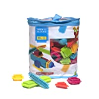 Seek'o Blocks - Jeu de Construction 1er âge - Seek'o Blocks Multicolore - Sac 90 Pièces - BA1002