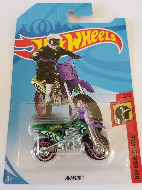 Hot Wheels 2018 50th Anniversary HW Daredevils HW450F (Dirt Bike), Green Mattel