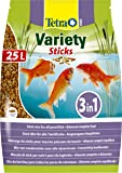 Tetra Pond Variety Sticks Fish Food, Mix of Three Different Food Sticks for All Pond Fish, 25 Litre