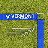 Vermont Volleyball Court Line Marking Kit   Creates a Regulation Size 60ft x 30ft Court   Ultra-Durable Polyester…