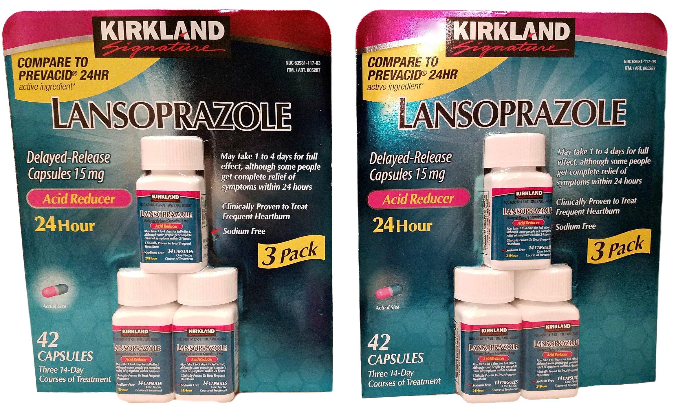 Kirkland Lansoprazole 3 Pack Delayed-Release Total 84 Capsules by Kirkland Signature