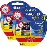 Pelikan 4001 Griffix Großraum-Tintenpatronen 4 x 5 Stück Blisterpackung ( 20 Patronen gesamt )