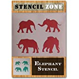 Sten Source EL402 Quilt Stencils by Laura Estes 5 Elephants