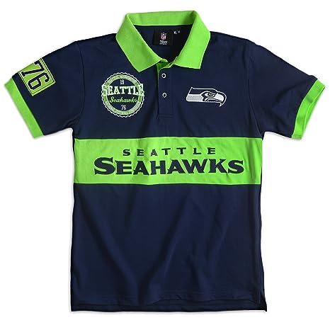 Forever Collectibles NFL Wordmark algodón Polo, Hombre, Seattle ...