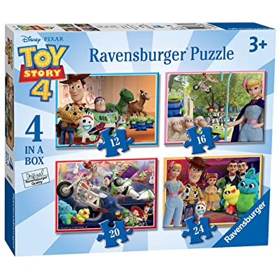 Ravensburger 6833 Disney Pixar Toy Story 4, 4 in a Box (12, 16, 20, 24pc) Jigsaw Puzzles, Multicoloured: Toys & Games