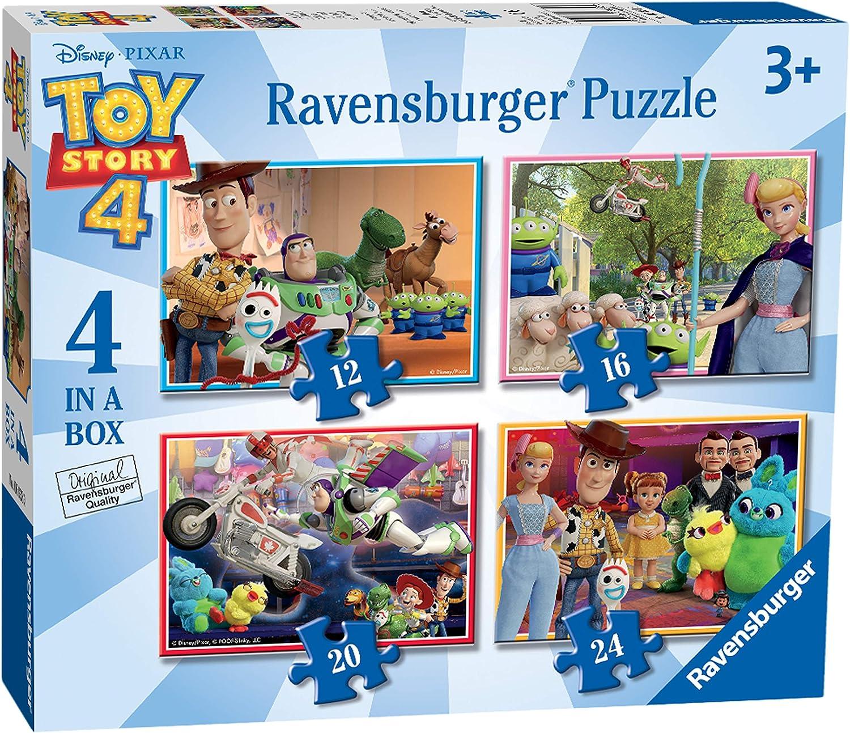 24 Pcs Kids Fun Jigsaw Puzzles Toy Story 4 Disney Pixar 2 4 in Box 12 16 20