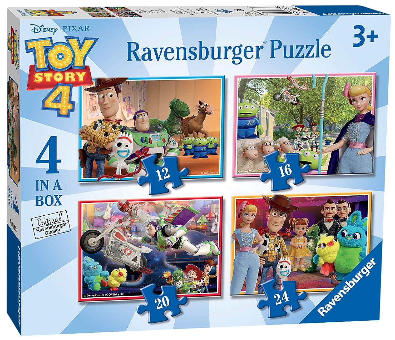 Puzzles Disney Pixar Toy Story 4 6833 - Multicolore Ravensburger 4 in a Box 12, 16, 20, 24 pi/èces