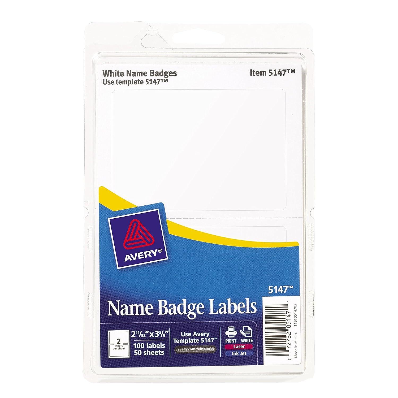 Amazon.com : Avery Self-Adhesive Print or Write Name Tag, Pack of ...