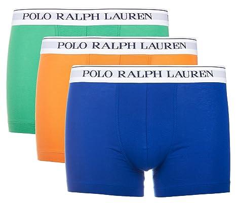 Ralph Lauren - Lot de trois boxers pour hommes Polo Ralph Lauren Classic  Trunk 3 Pack Marine   Anglais Vert   B Po  Amazon.fr  Vêtements et  accessoires cebc9ef741a