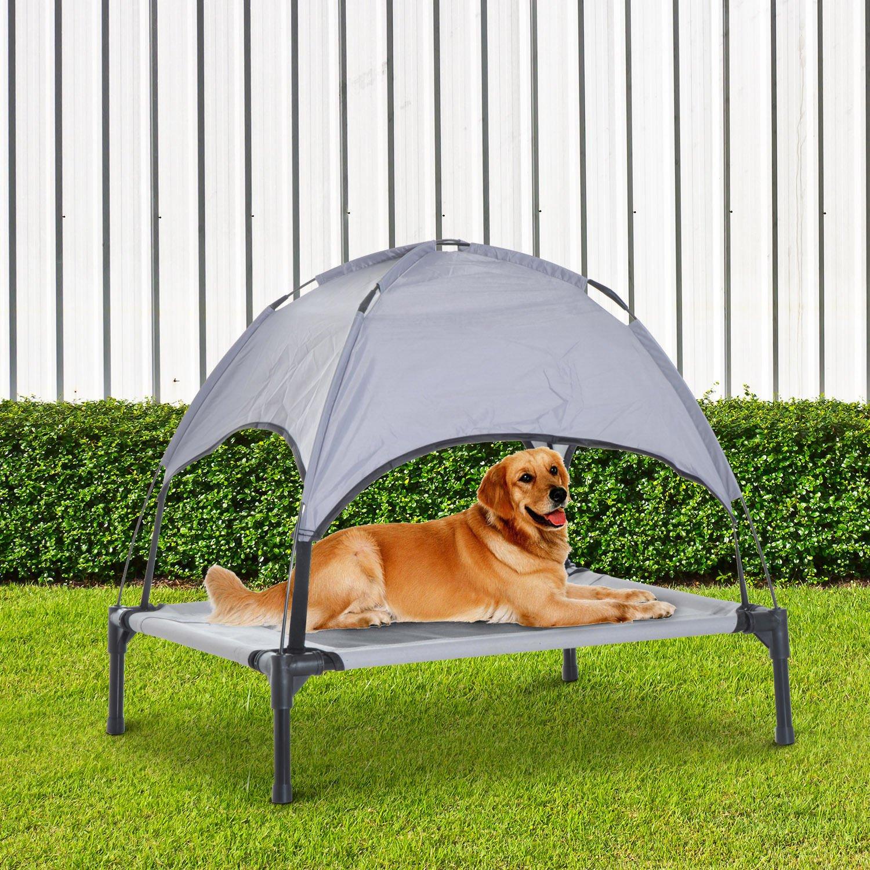 PawHut Cama para Mascotas con Carpa Impermeable para Perro Gato Dormir en el Exterior Terraza Jardín (M: 76 x 61 x 76cm (LxAnxAl)): Amazon.es: Hogar