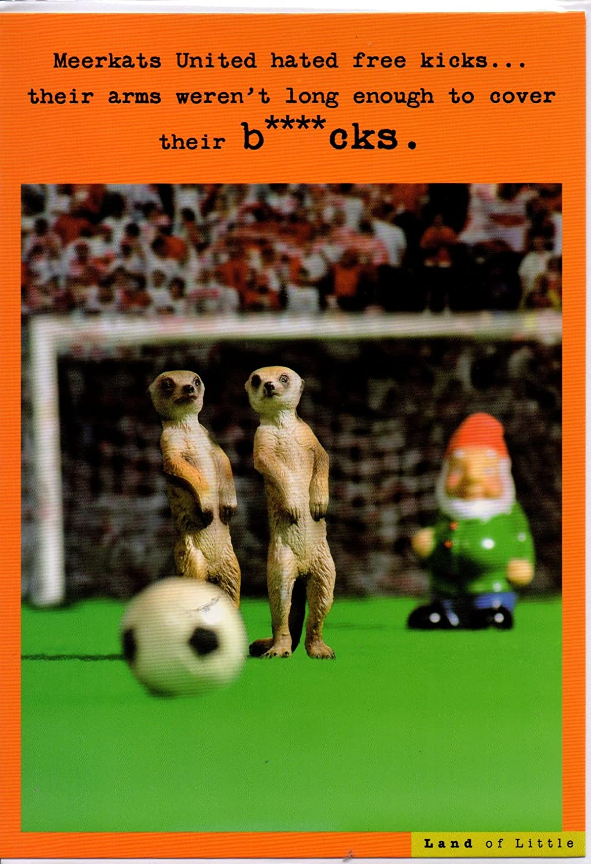 Funny Birthday Card Meerkats United Hated Free Kicks