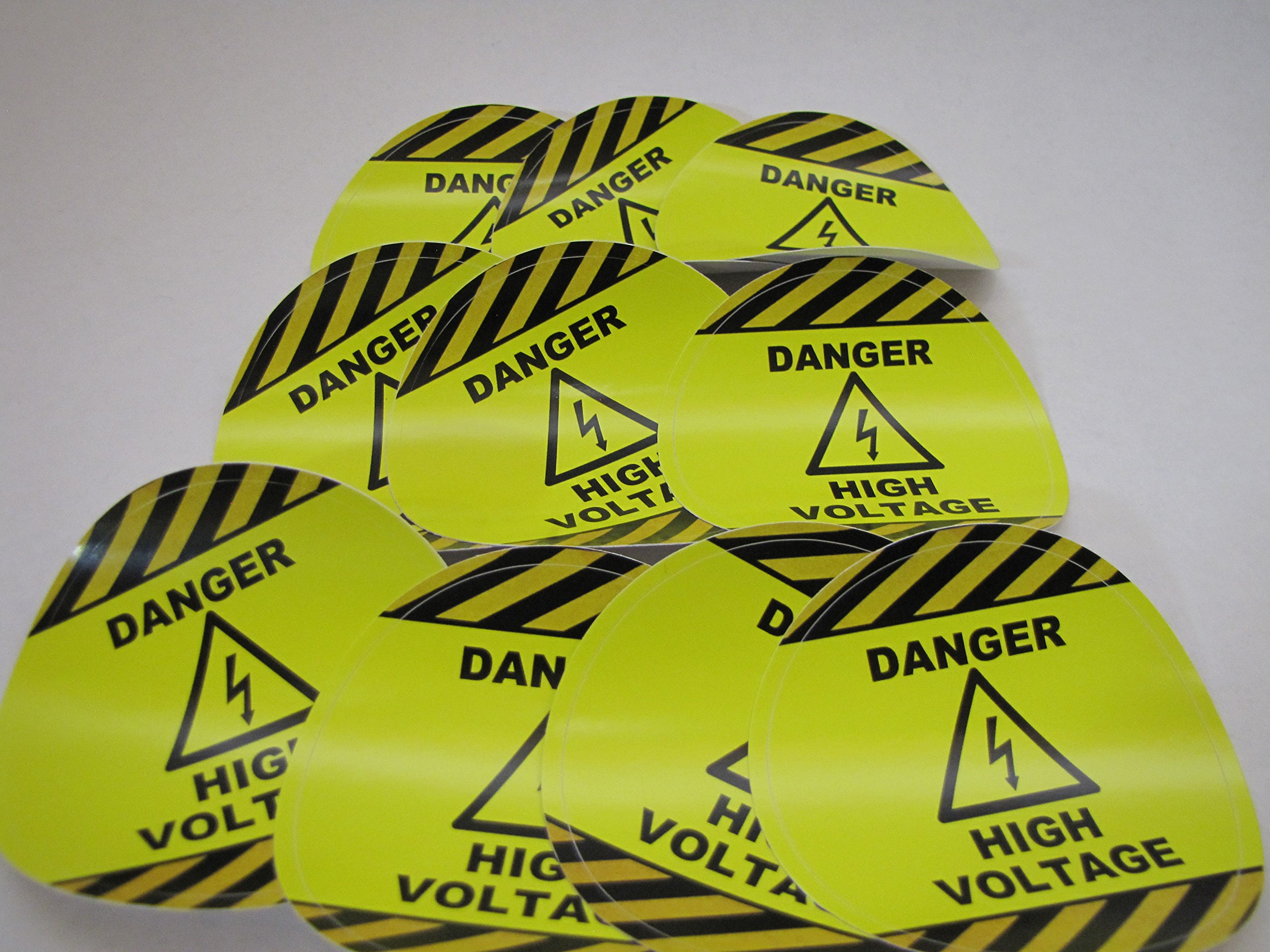 10 Industrial Safety Stickers | Danger High Voltage Safety Decals | 10 Pack