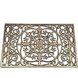 EHC Paillasson en caoutchouc 40 x 60 cm Finition Bronze effet fer forgé