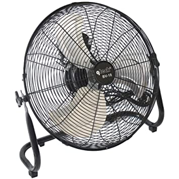 Bodenventilator Ventilator Windmaschine Metall Lüfter 120 Watt 3 Stufen Ø 45cm