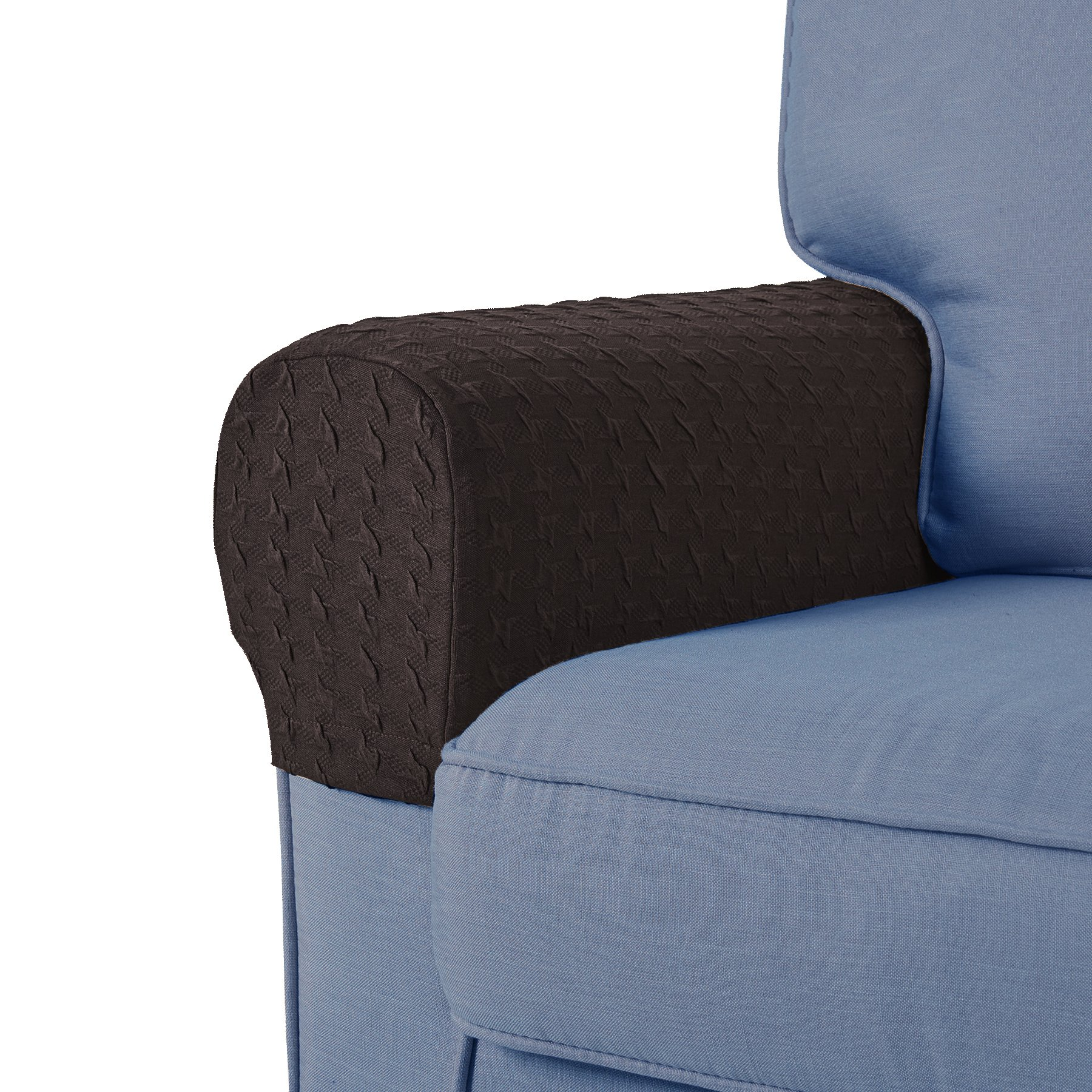 Guken Armrest Covers Anti-Slip Spandex Armchair Slipcovers Elastic Stretchable Furniture Protector (Coffee, 2pcs)