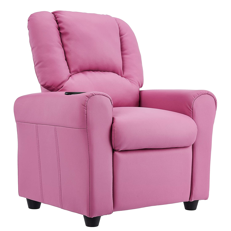 JC Home - Sillón reclinable para niños con portavasos y ...