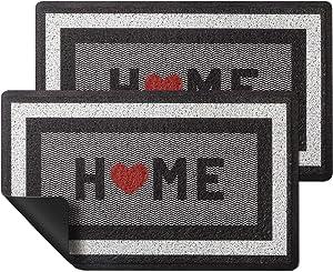 HappyTrends 2 Pack Door Mat Outdoor Indoor Floor mat,30