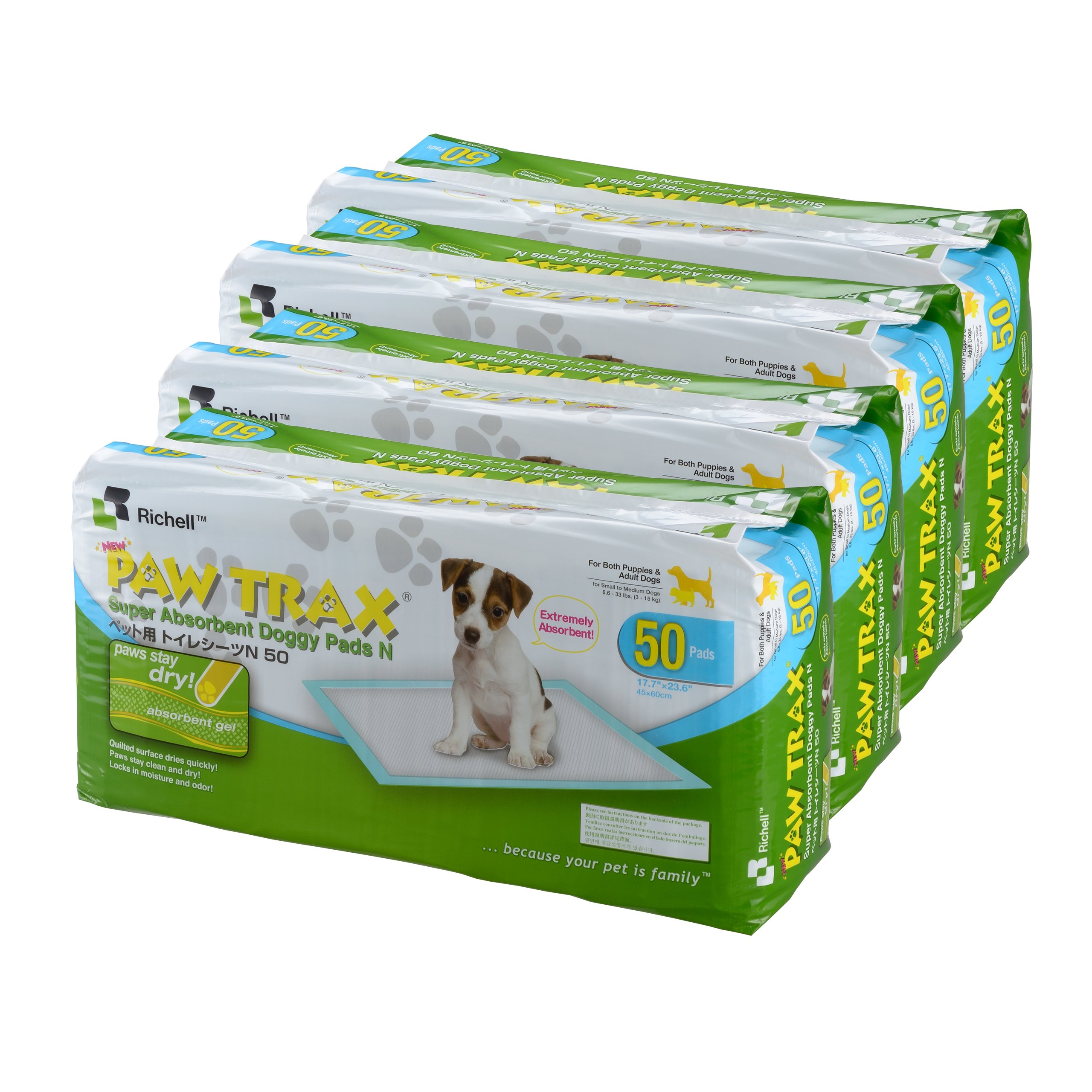 Richell Paw Trax Super Absorbent Pet Training Pads, 200 Pack by Richell