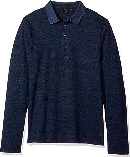 48802ef5 Amazon.com: Hugo Boss Boss Green C-Pirona Long Sleeve Polo Shirt In ...