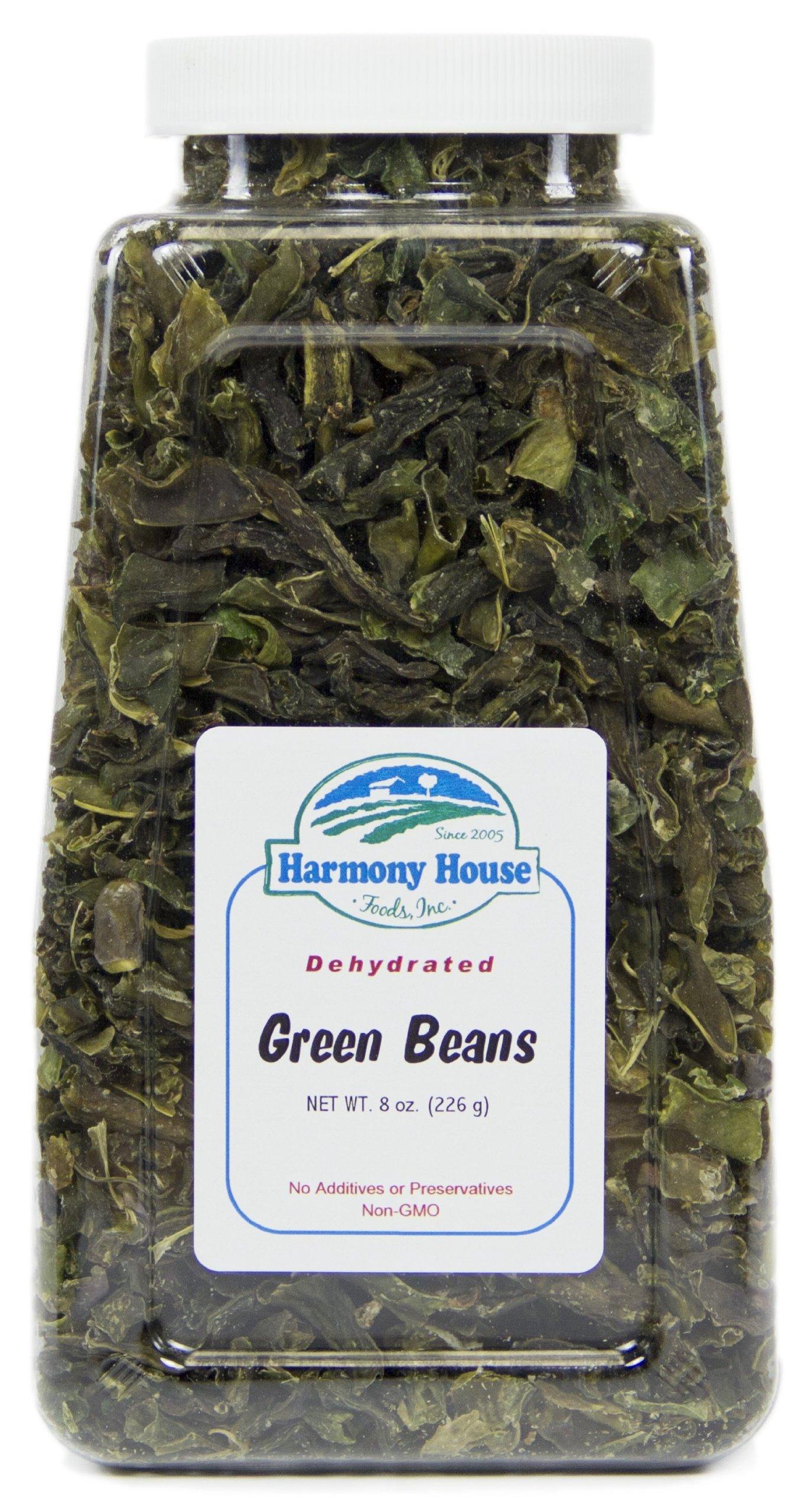 Harmony House Foods, Dried Green Beans, Cut, 8 Ounce Quart Size Jar