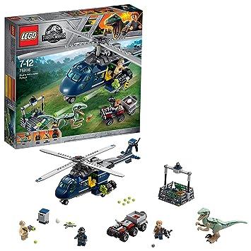LEGO Jurassic World - Persecución en helicóptero de Blue, Juego de ...