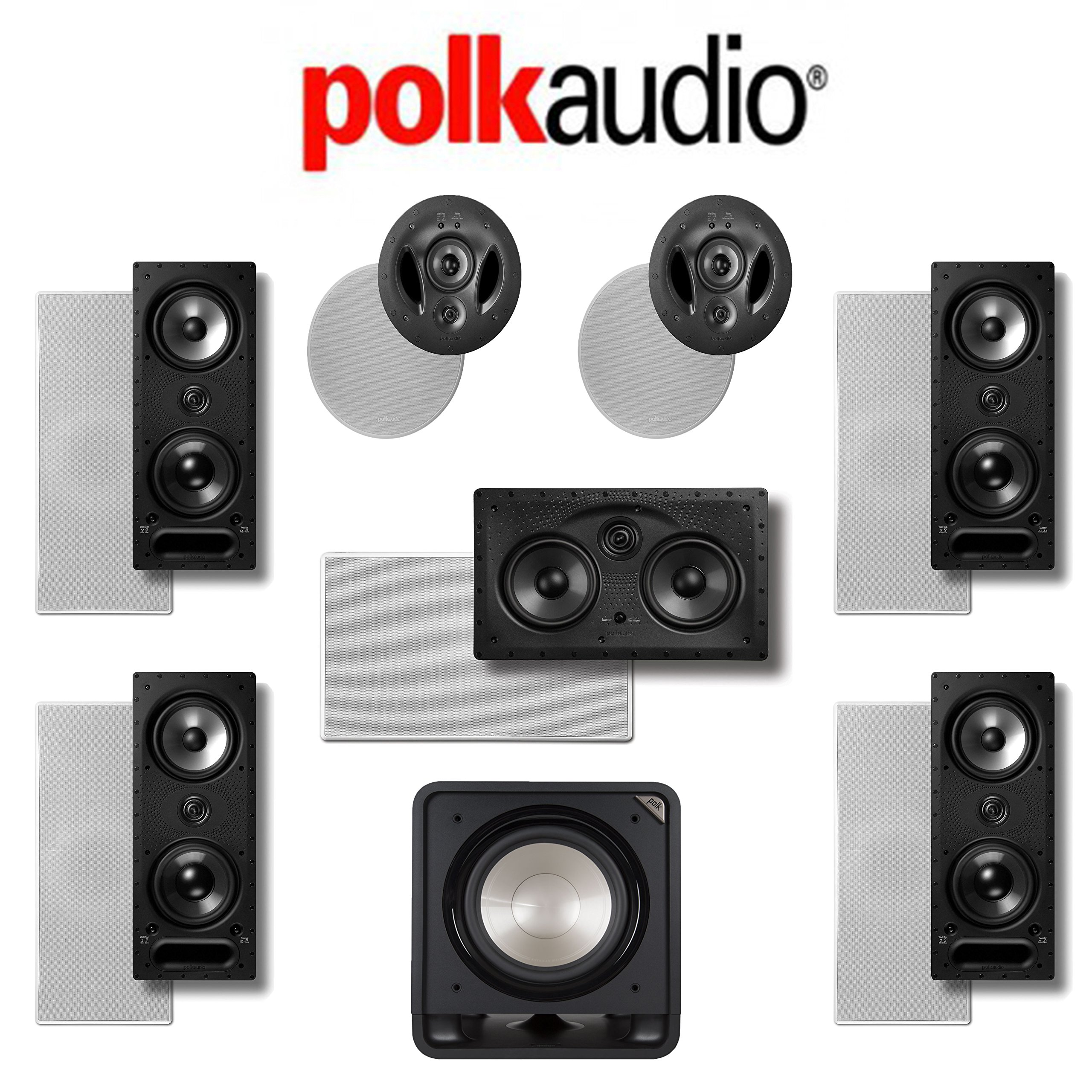 Polk Audio 265LS 7.1 Vanishing Series In-Wall / In-Ceiling Home Theater System (265-LS + 255C-LS + 900-LS + HTS12) by Polk Audio