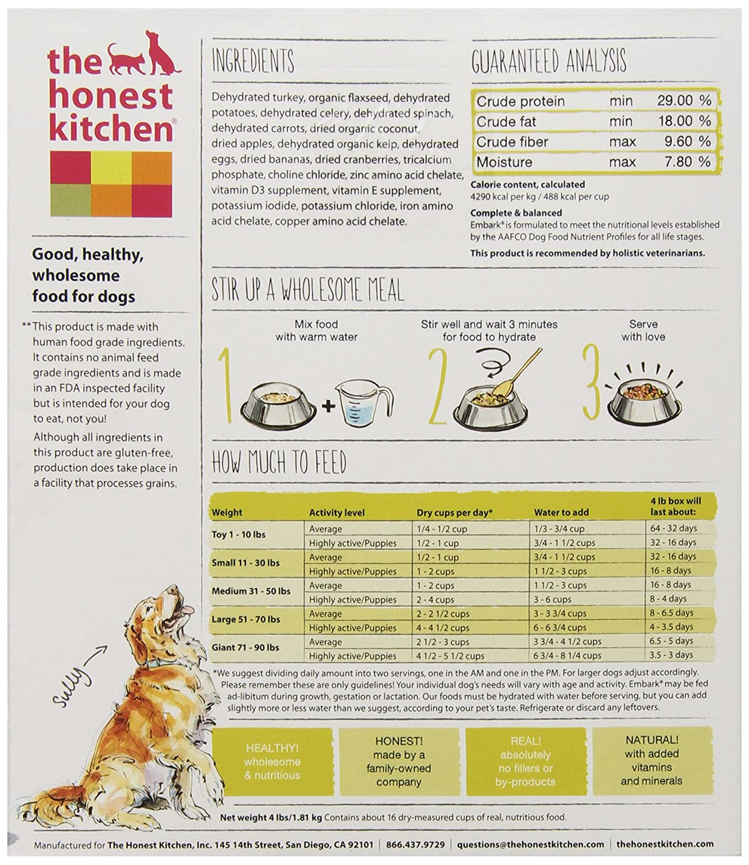 the honest kitchen embark grain free dog food natural human