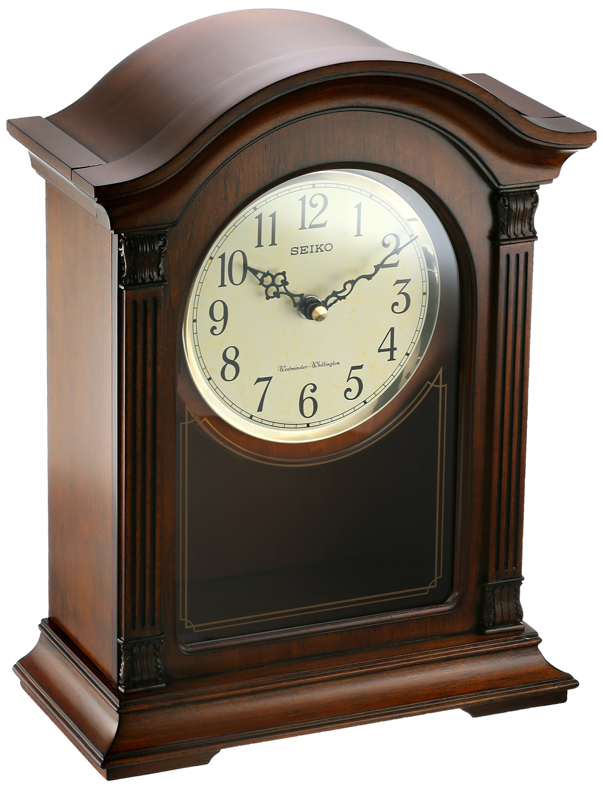 Seiko Wood Mantel Clock (Model: QXQ032BLH) by Seiko