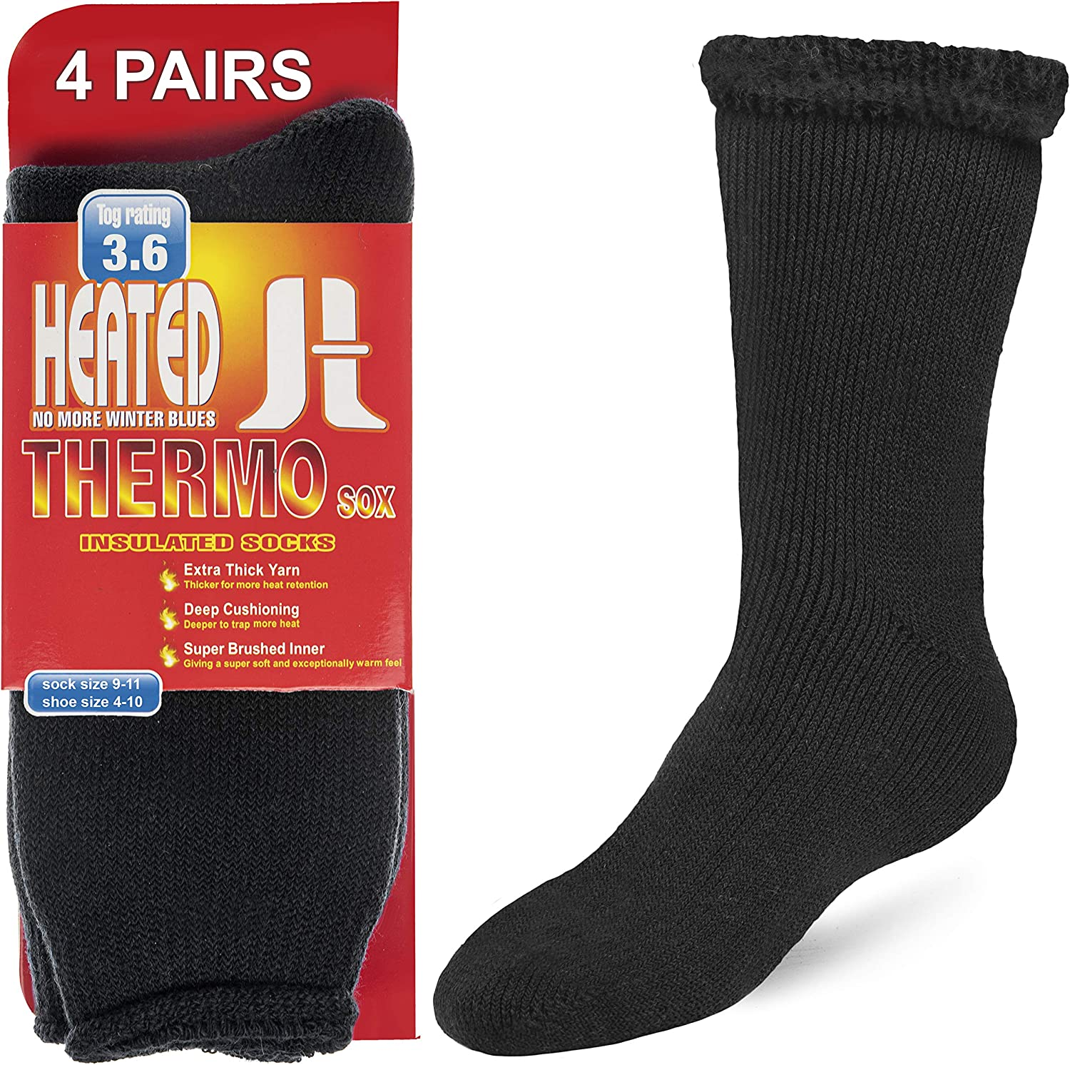 Thermal Socks For Men and Women Insulated Winter Socks for Extreme Cold Weathers Debra Weitzner 4/2 Pack