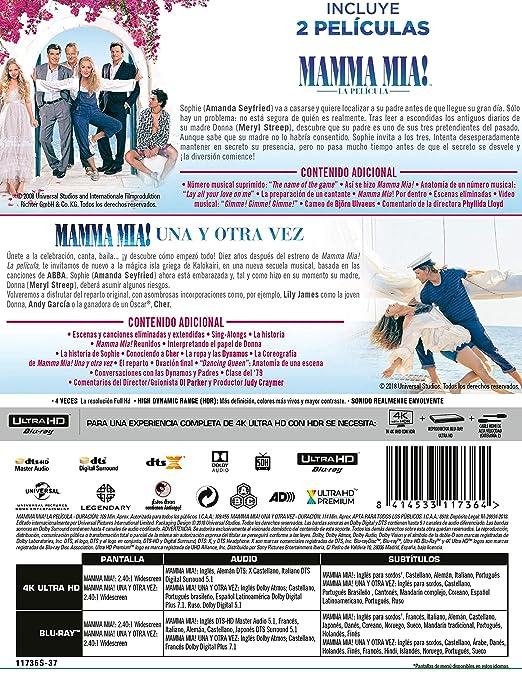 Pack: Mamma Mia 1 + Mamma Mia 2 4K UHD + BD Blu-ray: Amazon.es ...