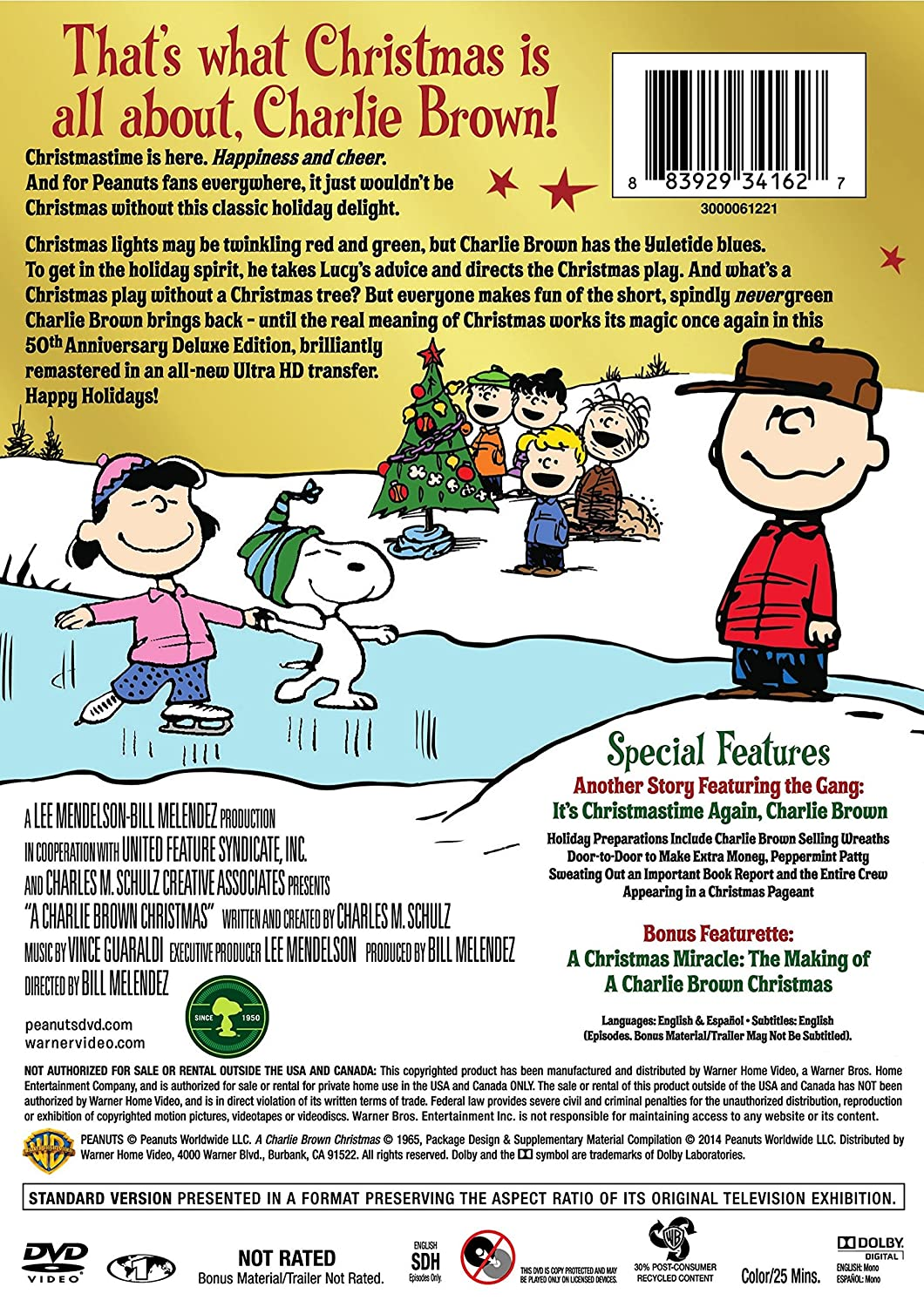 A Charlie Brown Christmas: 50th Anniversary: Amazon.ca: Various: DVD