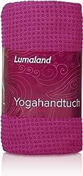 Lumaland Premium Mikrofaser Yoga Handtuch mit Antirutsch Noppen 60x180cm für die Yogamatte verschiedene Farben