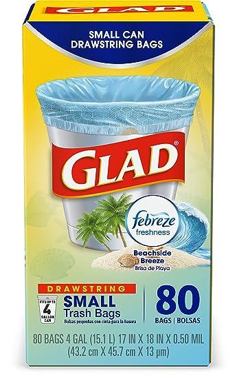 Amazon.com: Glad OdorShield - Bolsas de basura con cordón, 1 ...