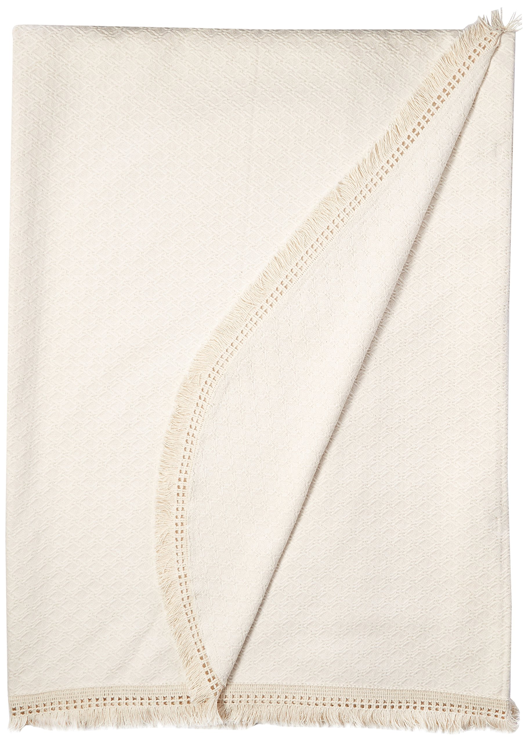Lamont Limited Home Bedspread, King, Ivory,Woven Jacquard