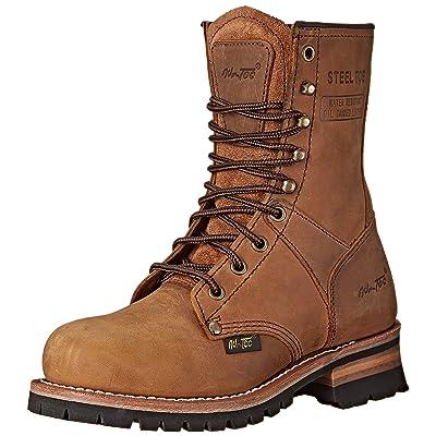 "Adtec Women's Work Boots 9"" Steel Toe Logger: Shoes"