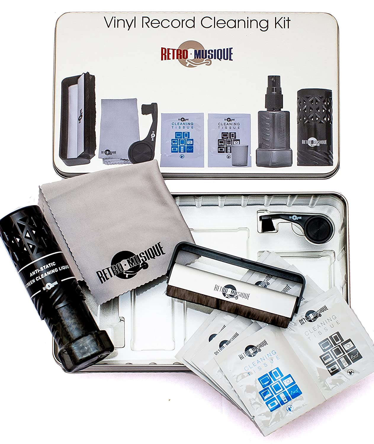 Retro Musique LP Cleaning Kit to Protect Your Vinyl Records and Enjoy The Best Possible Sound. Karrex RM1