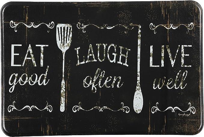J V Textiles Eat Laugh Live 24 X36 Antifatigue Kitchen Mats Kitchen Dining