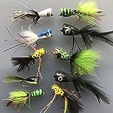 Fishing Bass Pike mosche confezione da 10 bottoni automatici taglia 4 Saltwater persico trota