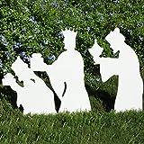 Teak Isle Christmas Outdoor 3-Wise Men Nativity