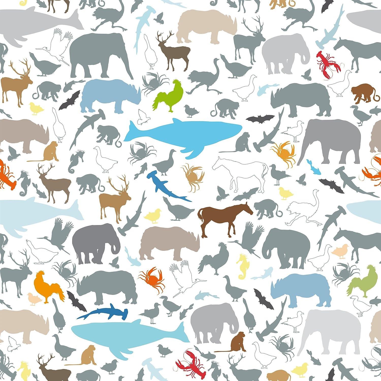 Apalis Klebefolie Lernmuster f/ür Kinder mit verschiedenen Tieren 50 x 50 cm