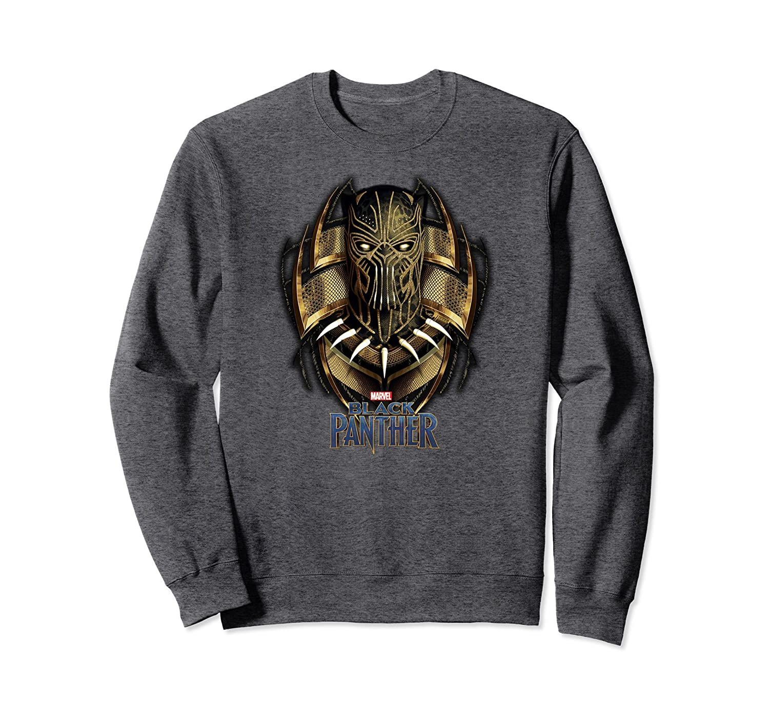 Amazon.com: Marvel Black Panther Movie Killmonger Gold Jaguar Sweatshirt: Clothing