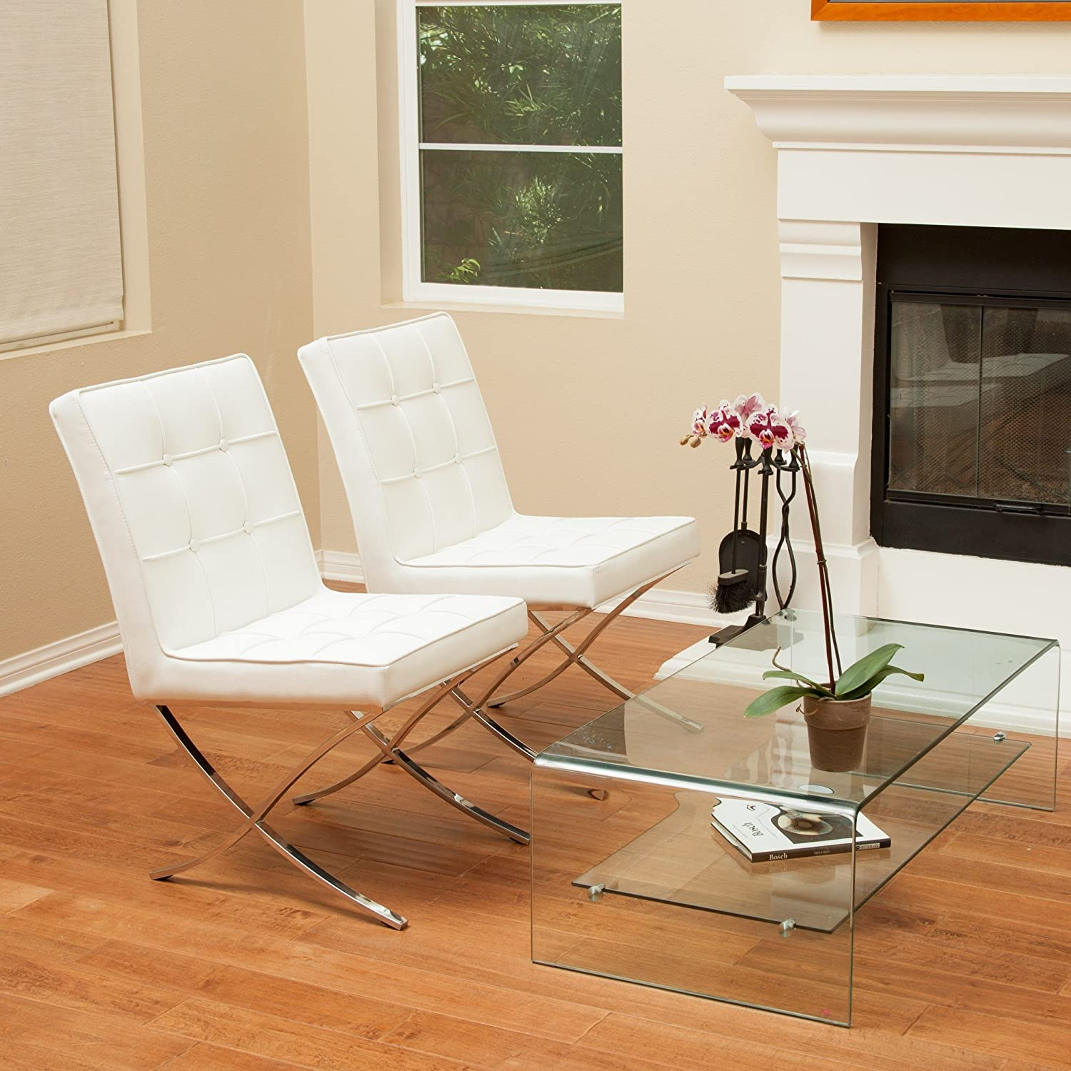 Amazon Christopher Knight Home Milania White Leather Dining