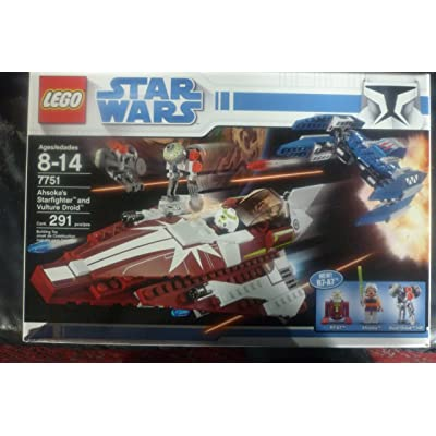 LEGO 7751 AHSOKAS STARFIGHTER AND VULTURE DROID: Toys & Games