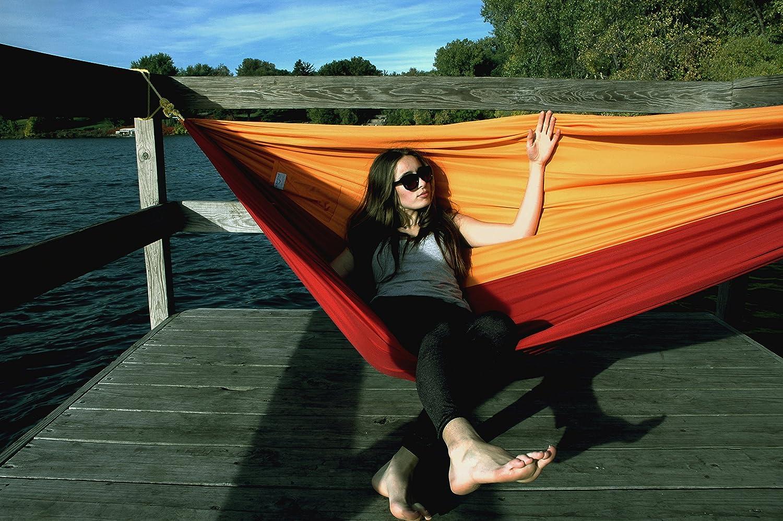 amazon     color cloud hammocks double travel hammock  dark red yellow    garden  u0026 outdoor amazon     color cloud hammocks double travel hammock  dark red      rh   amazon