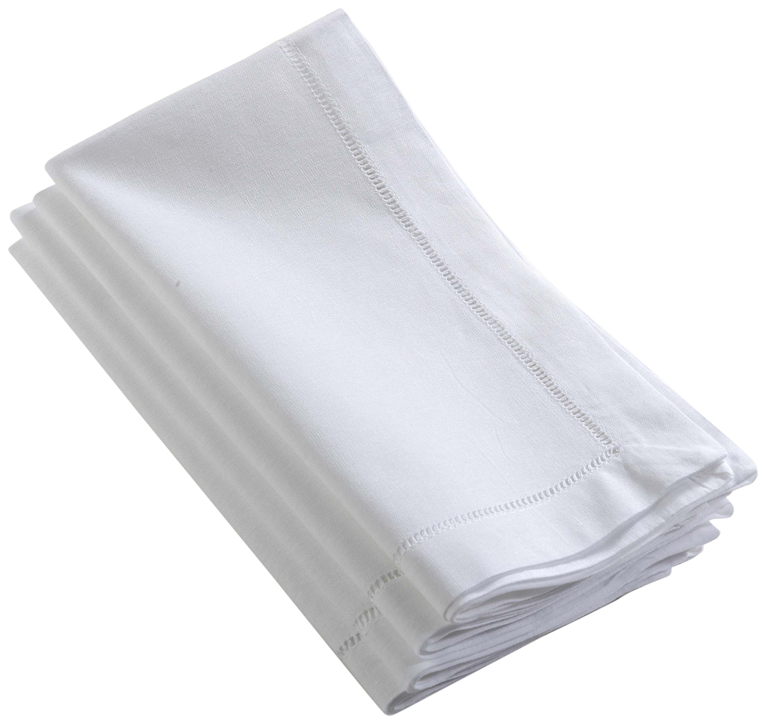 SARO LIFESTYLE 6100C.W20S 24/7 Everyday Collection Square Napkin, White, 20'' by SARO LIFESTYLE
